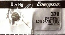 1 NEW ENERGIZER SR521SW 379 Silver Oxide 1.55v Watch Batteries Aussie Stock