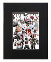 Tampa Bay Buccaneers super bowl champions NFL Football Tom Brady Matted 11x14