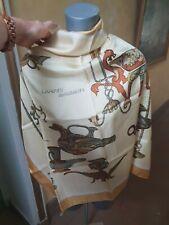 Superbe foulard en soie Style Hermès : LAMPES ANCIENNES de 1950