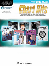 """Instrumental Play-Along For Tenor Sax """"Chart Hits"""" Music Book/Audio Access-New!"""