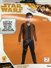 Star Wars Han Solo Halloween Costume Size Youth Large 12-14 Yl Rubies Nip