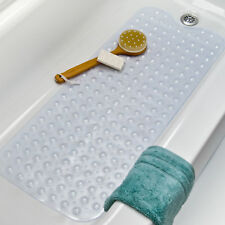 Charming Bath Tub Clear Bath Mat Non Slip Safety Anti Skid Shower Protection Extra  Long