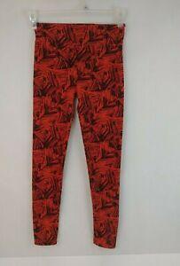 Lularoe Womens One Size Black And Orange Leggings