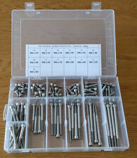 100PC ASSORTED M6 STAINLESS STEEL SOCKET CAP HEAD BOLTS SCREWS TO 100mm IN BOX