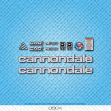 Cannondale M500 Bicycle Decals - Transfers - Stickers - Silver/Black - Set 0504