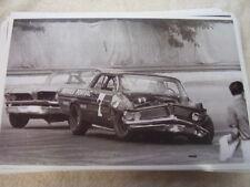 1962 PONTIAC NASCAR ? A J FOYT #7  WRECK TWO PONTIACS ! 11 X 17  PHOTO PICTURE