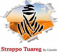 Adesivo 4x4 Effetto strappo deserto Tuareg Dakar cm.25x19 Camper 4x4 001194