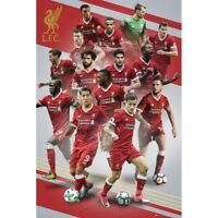 """LIVERPOOL PLAYERS COLLAGE  POSTER 24'X36"""" SALAH, MANE OFFICIALLY LICENSED"""