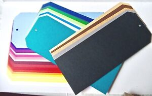 Gift Tags x 6 extra large 30 colours 10cm x 25cm MULTI-BUY DISC. up to 12%