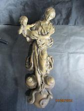 Madonna Immaculata Wolke, Erdkugel, Schlange,HOLZ geschnitzt 60er Jh.