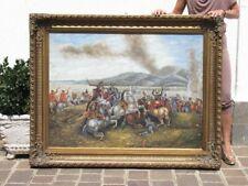 Huge Painting Painting Oil Figure Antique Battle Frame Golden 148CM