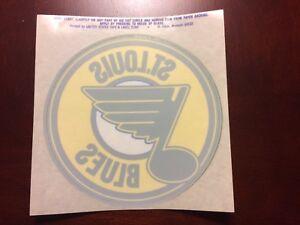 St. Louis Blues Hockey NHL Vintage Circa 1980's Donut Logo Decal Sticker Inside