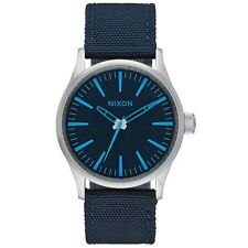 Nixon A4262219 Sentry 38 Nylon Dark Blue Men's Analog Watch