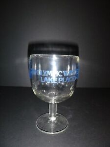 Vintage 1980 XIII Lake Placid Winter Olympic Games Half Paint Wine Glass Goblet