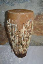 afrikanische Trommel Bongo Tribal mit Ziegenfell oder Kuhfell
