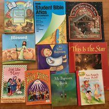 Lot 10 Kids Christian Picture Books Catholic Bible Stories Christmas Angels Mass