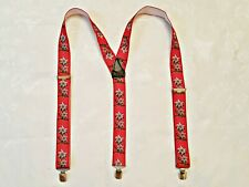 GENTS AUTHENTIC OKTOBERFEST DIRNDL TYROL ELASTIC AND LEATHER MEN'S SUSPENDERS
