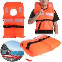 Universal Life Vest Polyester Life Jacket Foam Flotation Swimming Safety Whistle