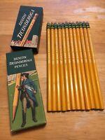L@@K! Vintage WWII Era Dixon Ticonderoga 1386 Pencils - 1 doz. - #2 - Ships Free