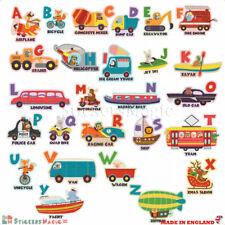 Animal 3D Alfabeto ABC educativo Pegatinas para dormitorios niños del niño UK