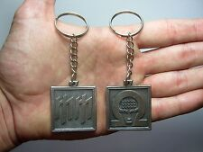 Marilyn Manson Keychain Keyring Key doble sided Pendant Pewter Silver 011