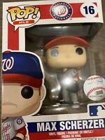 MLB Funko Pop! Series 2 #16 Max Scherzer Washington Nationals Away Jersey NIB