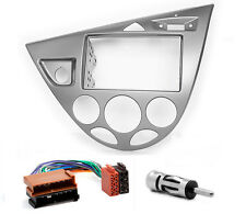 CARAV 11-549-9-6 Autoradio Radioblende Set für FORD Focus 2-DIN silber