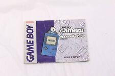 Nintendo Gameboy - Gameboy Camera - Manual Only