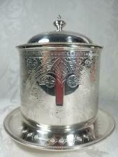 Martin Hall and Co Silver Plate Biscuit Barrel Cookie Jar Tea Caddy