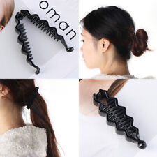 Accessories Black Ponytail Holder ABS Plastic Banana Hairpin Barrette Hair Clip