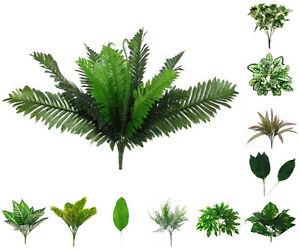 Artificial Foliage Silk Leaf Bush Wedding Craft Greenery Florists Arrangement