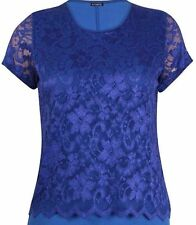 Unbranded Women's Floral Semi Fitted Crew Neck Tops & Shirts
