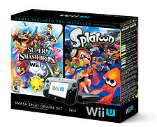 Nintendo Wii U Smash Splat Deluxe Set 32GB Black Handheld System
