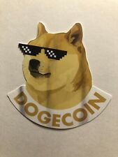 Dogecoin Sticker 3�Inch Crypto Decal Sticker Cryptocurrency Doge Bitcoin B