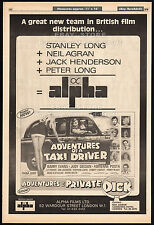 ADVENTURES OF A TAXI DRIVER__Original 1976 Trade AD promo_poster__ANGELA SCOULAR
