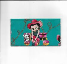BETTY BOOP CHECKBOOK COVER  FABRIC COWGIRL DOG COWBOY HAT