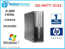 HP Elite 8200 Desktop Computer 2nd GEN i7 2600 3.3G 4G 250G Win 7 Pro Warranty