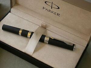 PARKER 5TH INGENUTIY LARGE BLACK / RUBBER / METAL PEN / M FILLER /NEW / BOX 2007
