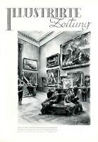 Rubens-Saal Gemäldegalerie Dresen XL 1931 Kunstdruck von Rudolf Lipus Semperbau