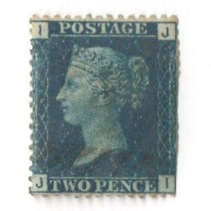 1858 UK Great Britain QV Scott # 30 Plate 13 Blue Used CV$33
