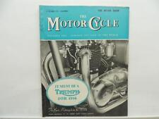 December 1955 THE MOTORCYCLE Magazine Triumph Puch Scooter Sidecar L8356