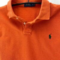 Ralph Lauren Mens Polo Shirt Orange 100% Cotton Short Sleeve Pony Logo Casual XL