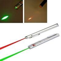 2 pc 5mW 532nm Military Green & Red Light Beam Laser Pointer Presentation  Pen