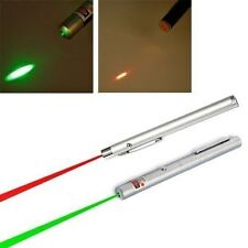 2 pc 5mW 532nm Military Green & Red Light Beam Laser Pointer Presentation  Pen