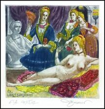David Bekker 2013 Exlibris C4 Erotic Erotik Nude Woman Sex Nudo 986