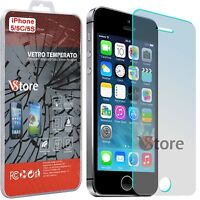 Pellicola in Vetro Temperato Per iPhone 5S 5 5C SE Salva Schermo Display LCD 4""