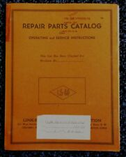 New listing 		VINTAGE 1962 LINK-BELT SPEEDER CRANE MODEL LS-40 REPAIR PARTS CATALOG