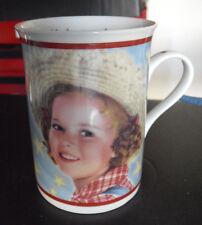 "Danbury Mint Shirley Temple Mug Rebecca Sunnybrook Farm 1938 4"" Tall"