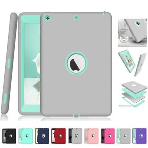 """Heavy Duty Shockproof Military Rubber Case Cover For iPad mini 1 2 3 Air 2 9.7"""""""