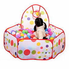 Portable Kids Play Children Outdoor Indoor Game Toy Tent Ocean Ball Pit Pool HS